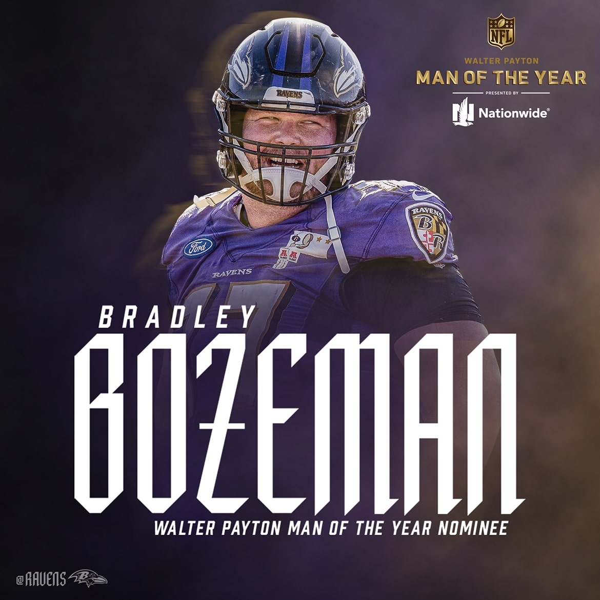 Bradley Bozeman Walter Payne Man of the Year Nominee